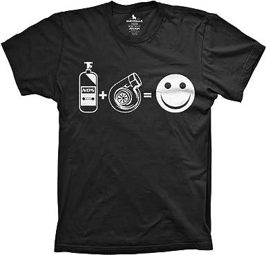 Turbo = Happy tee jdm shirts funny boost tshirts turbo tees NOS