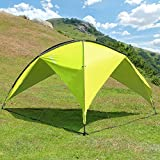 WolfWise Camping Gazebo Canopy Tent Outdoor Patio Shelter Sun Shelter Sunshade for Hiking Fishing Picnic