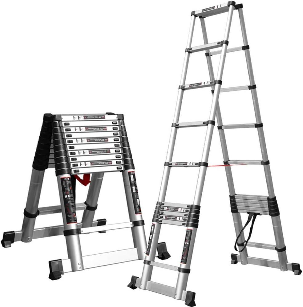 PENGFEI Escalera Telescópica Interior Multifuncional Ingenieria Escalera Ascendente Aleación De Aluminio, 7/9/10/11 Pasos (Tamaño : 3.2M): Amazon.es: Hogar