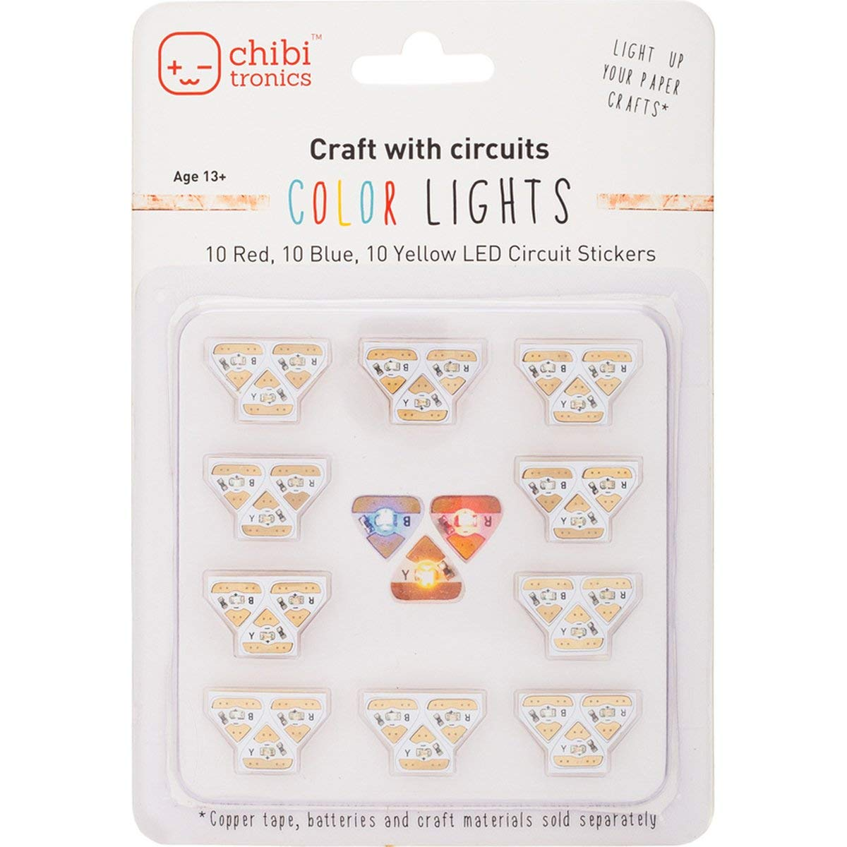 Chibitronics Circuit Stickers Red Yellow Blue Megapack
