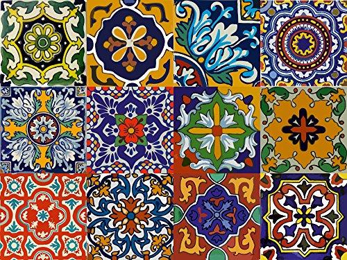 bleucoin-mexican-talavera-tile-wall-stair-stickers-decal-12-10cm-x-10cm