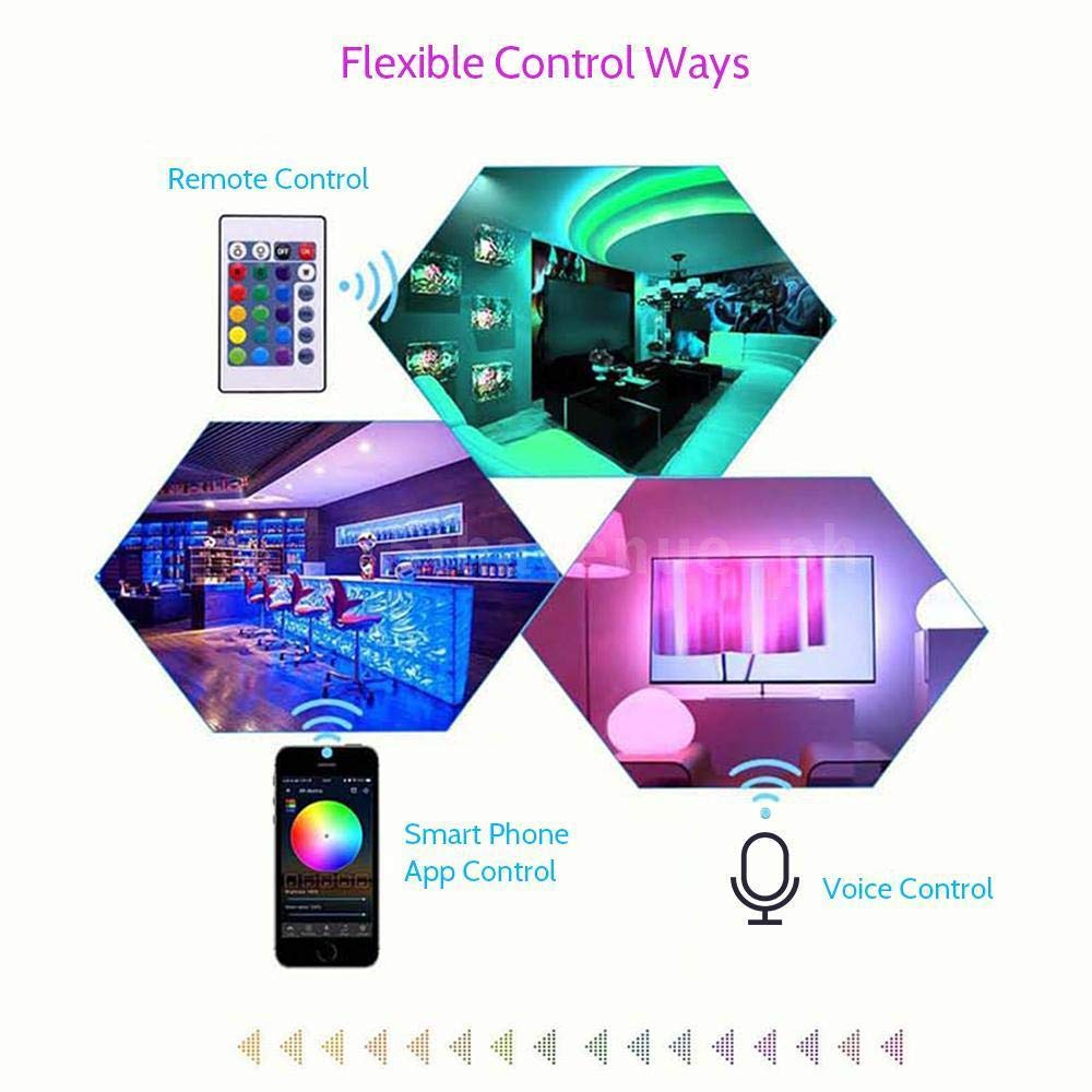 Sound Aktiviert,16 Mio Farben 3528 Stripe Streifen 20 Dynamische Modi Arote LED controller wifi RGB Wlan Smart Led Strip wifi Kontroller Mini Fernbedienung f/ür 5050