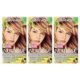 Garnier Nutrisse Nourishing Hair Color Creme, H2 Golden Blonde Highlighting Kit, 3 Count
