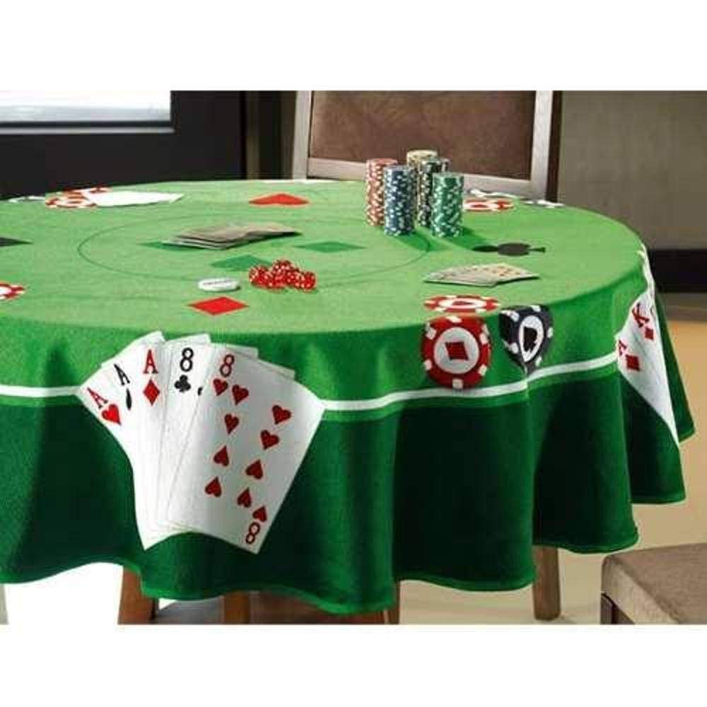 Dohler Velour Table Cloth (Towel) Cards II 63 inches Round Made in Brazil