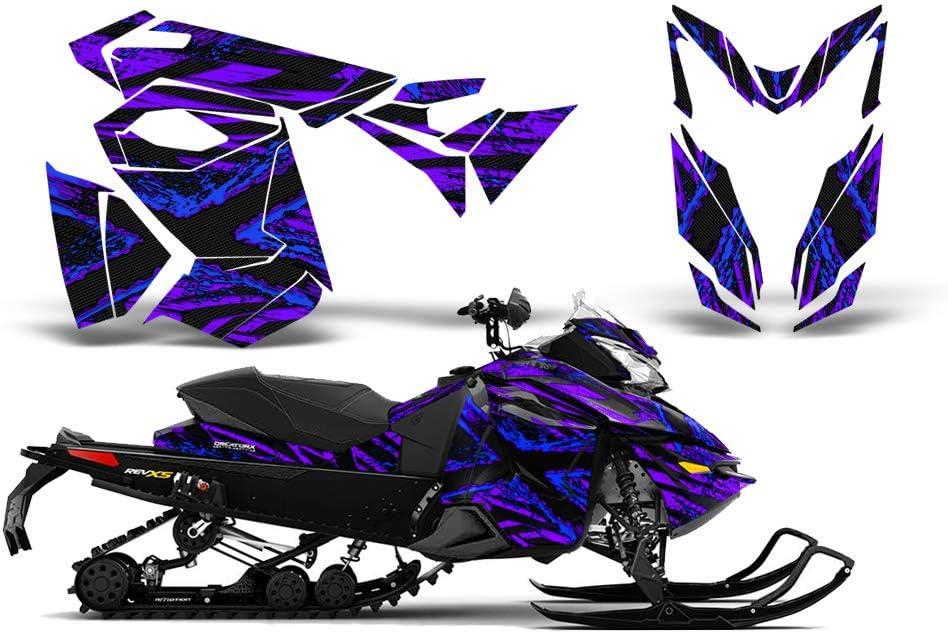 CreatorX Ski-Doo Rev Xs Mxz Renegade Snowmobile Sled Graphics Kit Wrap TribalX Silver Blue