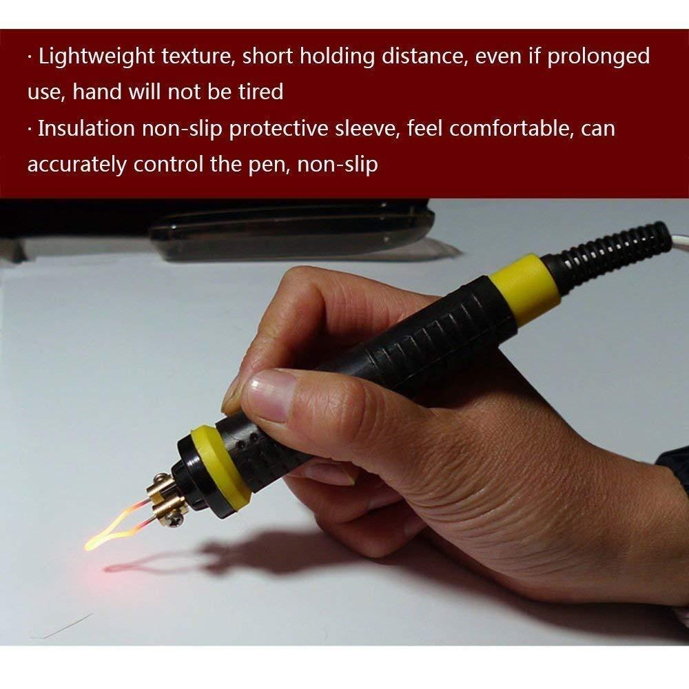 Legno brucia pirografia penna kit 30Pcs punte Pirografo 220/V 100/W professionale pirografia Machine kit Craft Wood Burning carving con 2PCS pirografia penna