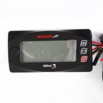 Qazwsx Impermeable 12 V De La Motocicleta Termómetro Digital LED Temperatura del Instrumento De Temperatura del Agua Pirómetro De Alarma Medidor,A: ...
