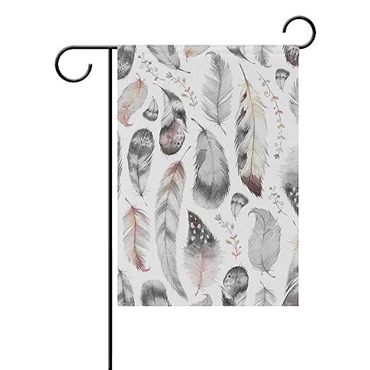 MONTOJ - Bandera para jardín (diseño de pájaros Pintados, Doble ...