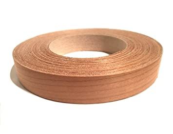 Edge Supply Cherry 3 4 X 50 Roll Of Plywood Edge Banding Pre Glued Real Wood Veneer Edging Flexible Veneer Edging Easy Application Iron On