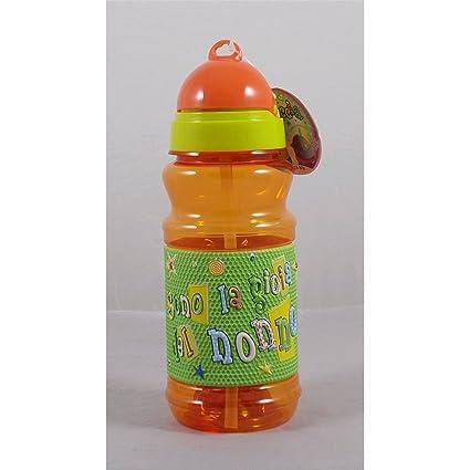 Botella Sport de plástico con texto a relieve Soy la Alegría ...