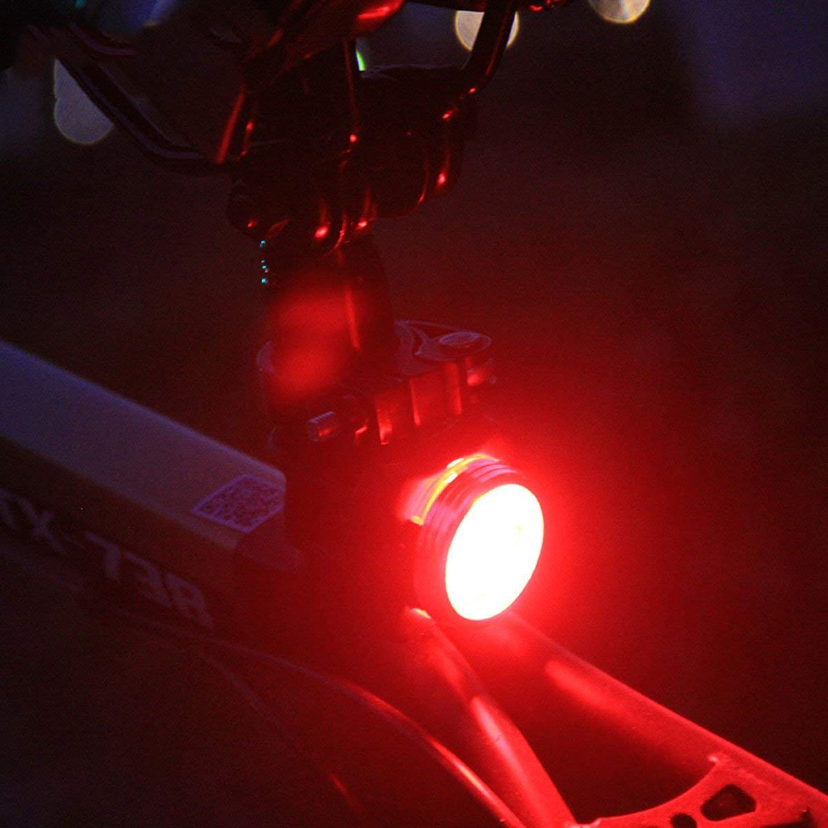 DUBUT21 Super Bright Bicycle Light Set USB Rechargeable Bike Headlight Free Tail Light Waterproof LED Bike Light Easy to Install Cycling Safety Commuter Flashlight Best Mountain Road City Bicycle by DUBUT21 (Image #7)