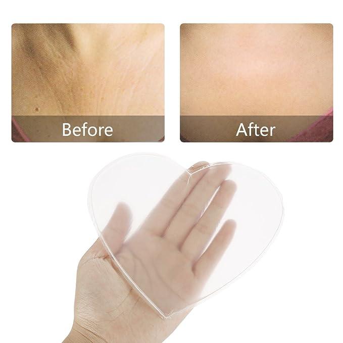 TMISHION Almohadilla para el Pecho, Antiarrugas Cofre de Silicona Anti Arrugas Levantamiento de los Senos Parche de reafirmación Suave Cuidado del Escote ...