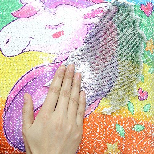 Icosy Unicorn Throw Pillow Cover Mermaid Unicorn Printed