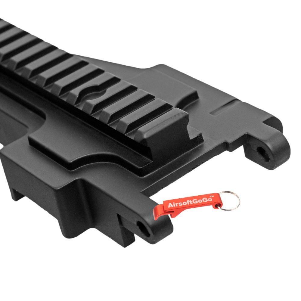Llavero Incluido M249 Airsoft AEG Metal Cover con Rail para Classic Army CA249
