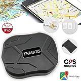 TKMARS auto GPS Tracker per veicoli 5000 mAh 90 giorni lungo standby GSM Realtime Tracking device impermeabile gocciola allarme con forte magnete, veicolo in tempo reale GPS Tracker