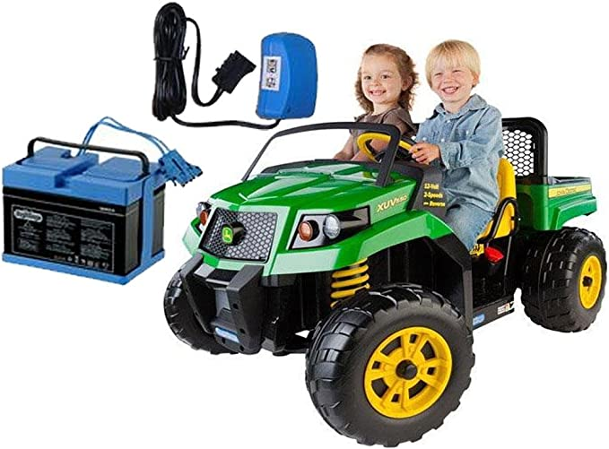 12 Volt Battery Charger Works with Peg-Perego John Deere Ground Force Tractor John Deere Gator XUV Gaucho Rockin 12V Charger for Peg Perego Kids Ride On Car
