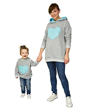 Sudaderas con capucha familiares, LILICAT Madre e hijos Baby Girl Matching Outfit, Mam y