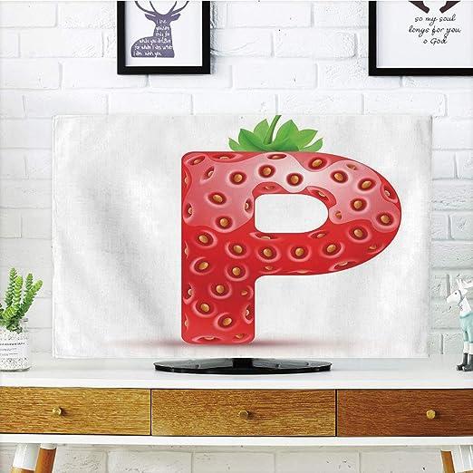 iprint - Funda para televisor LCD, diseño de Letra P, Color Azul y ...