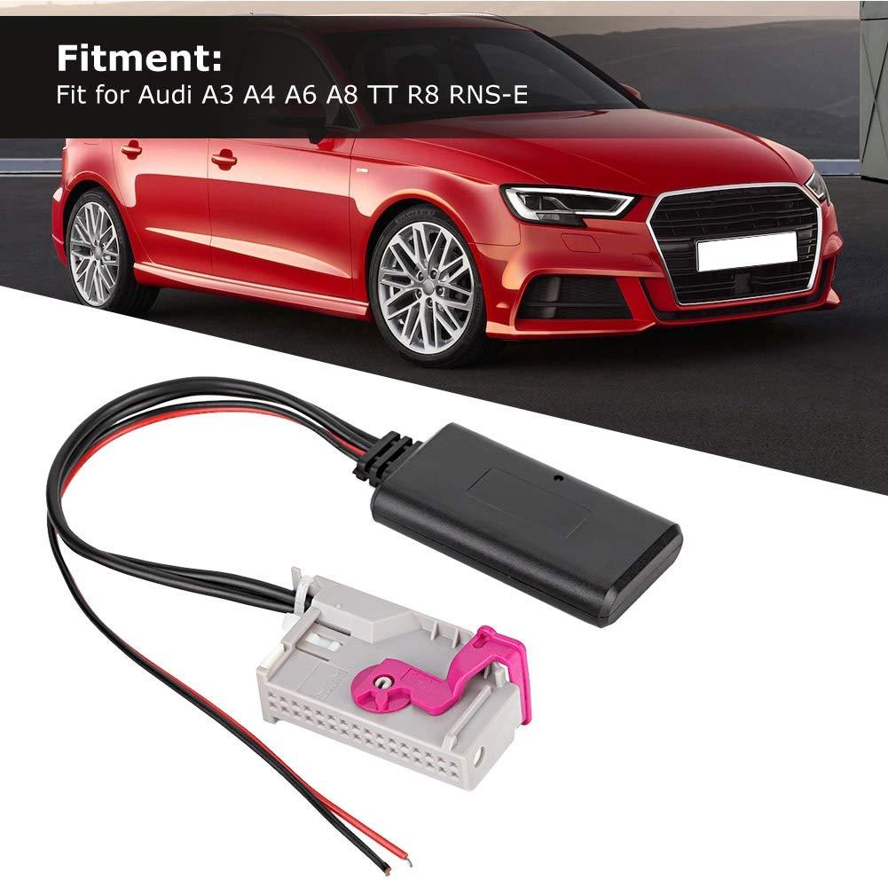Bluetooth C/âble audio C/âble audio de voiture Module Bluetooth Adaptateur de c/âble Adaptateur de c/âble 32 broches Adaptateur de voiture Bluetooth pour A3 A4 A6 A8 TT R8 RNS-E