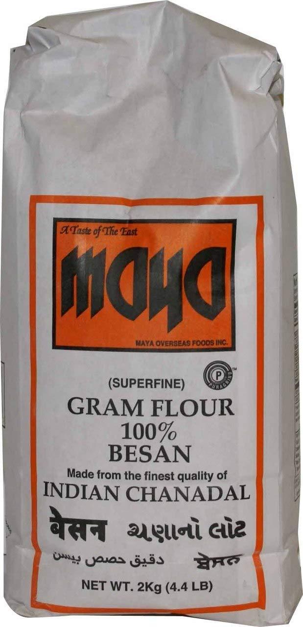 Maya Superfine Gram Flour, 4.4 Pound (Pack of 8)
