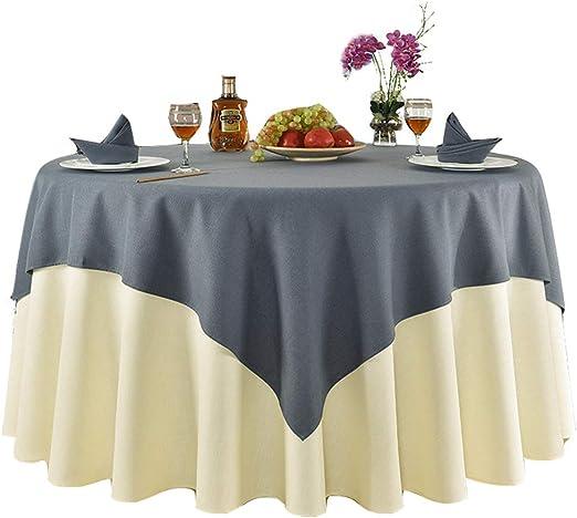 Mantel redondo, tela de poliéster hotel restaurante mesa mantel ...