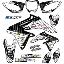 Senge Graphics 2001-2014 Suzuki RM 125/250, Race Series White Graphics Kit
