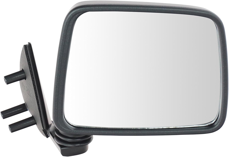 Black Manual Side View Mirror Driver Left LH For Pathfinder D21 Hardbody Truck