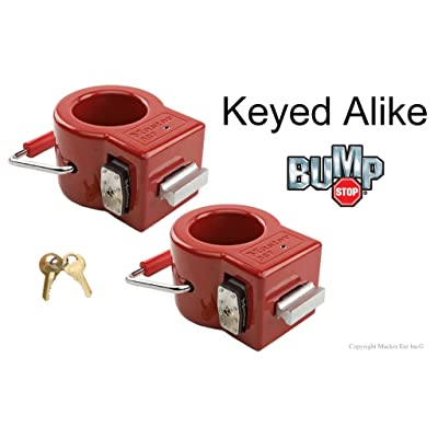 Master Lock Keyed Alike King Pin Locks - Toy Hauler/Trailer Locks w/BumpStop Technology - 387NKA-2: Automotive