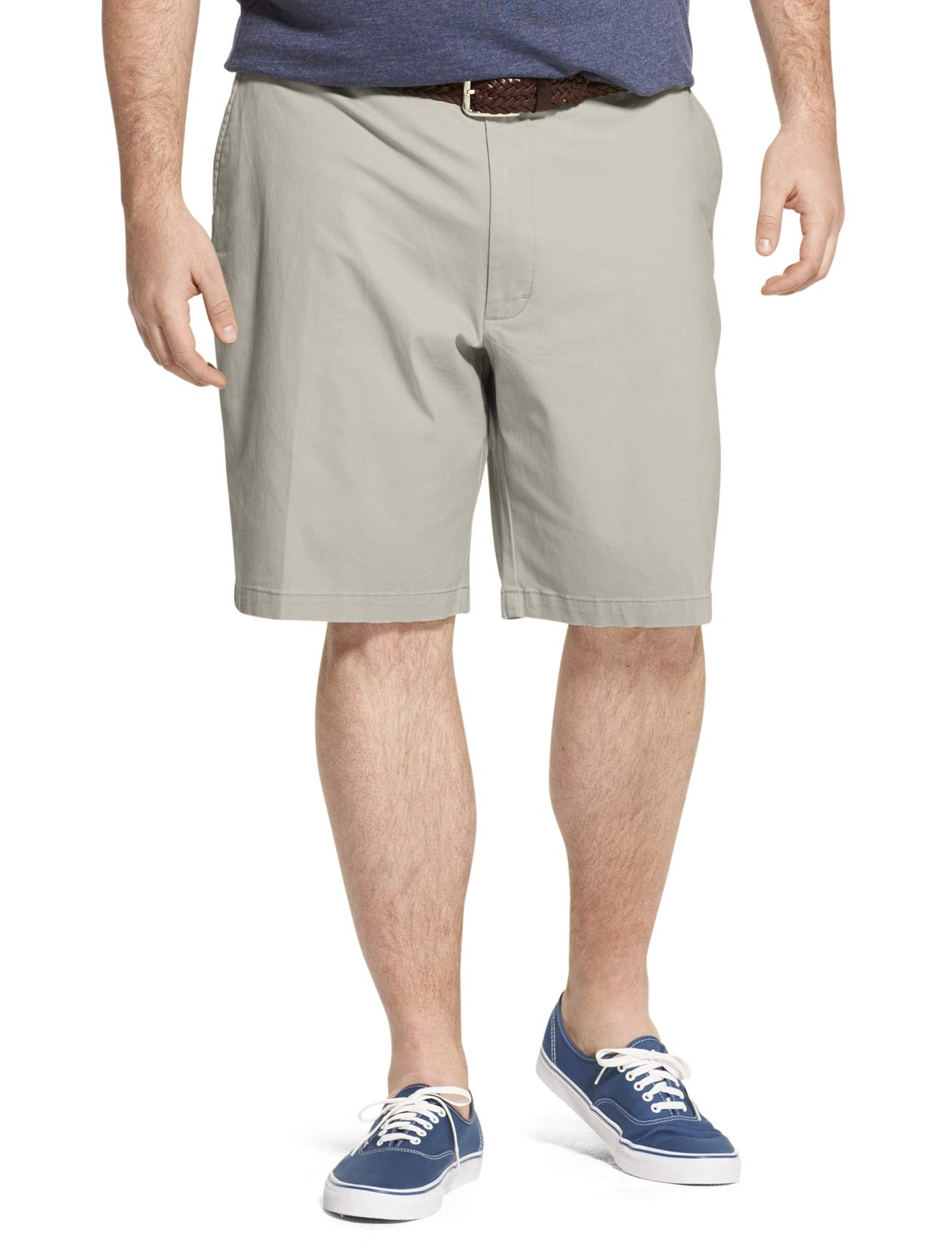 IZOD Men's Big and Tall Saltwater 9.5'' Flat Front Chino Short, high Rise S2019, 44