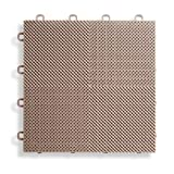 covered patio ideas BlockTile B2US5130 Deck and Patio Flooring Interlocking Tiles Perforated Pack, Beige, 30-Pack