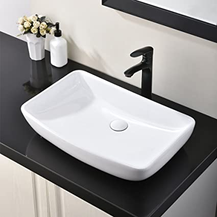 Excellent Hotis 23 6 X 15 White Round Above Counter Porcelain Ceramic Bathroom Countertop Bowl Lavatory Vanity Vessel Sink Download Free Architecture Designs Viewormadebymaigaardcom