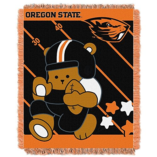 picture of NCAA Oregon State Beavers Fullback Woven Jacquard Baby Throw Blanket, 36x46-Inch
