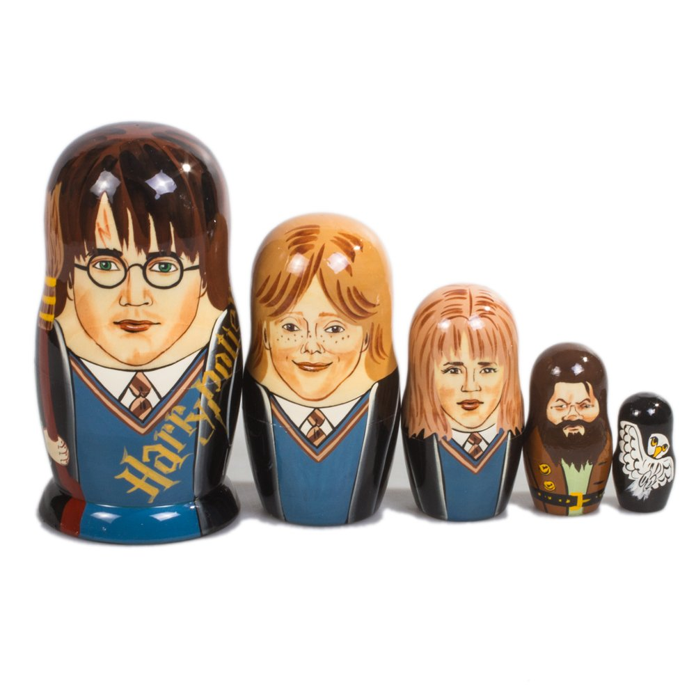 Books.And.More Harry Potter Nesting Dolls Set 5pcs Matryoshka Dolls by Books.And.More (Image #2)