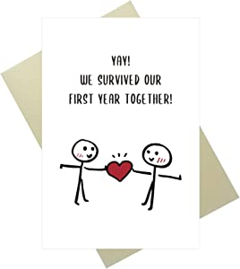 OJsensai Funny Anniversary Card, Funny Birthday Card, Meaningful Valentine's Day Card for Husband Wife
