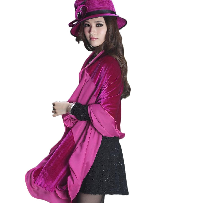June's Young Damen-Hüte Samthut Winter Herbst Velours vintage eleganter Hut hoher Qualitaet fashion