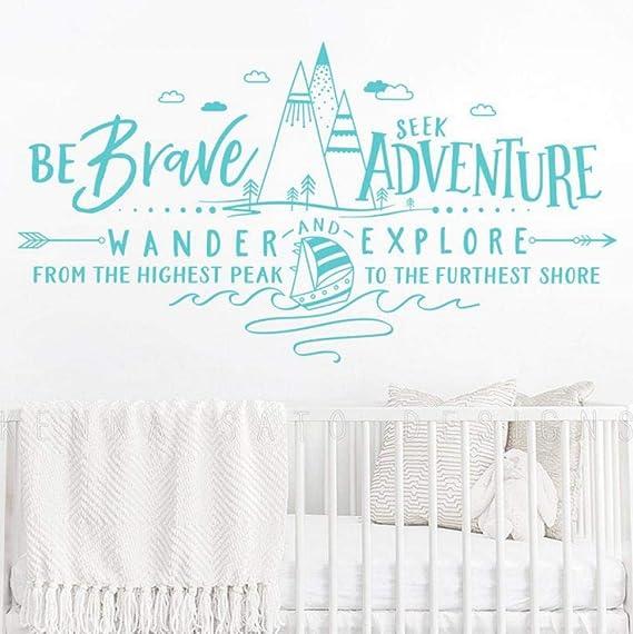 Sé valiente Busca Adventure Wander and Explore Tatuajes de pared ...