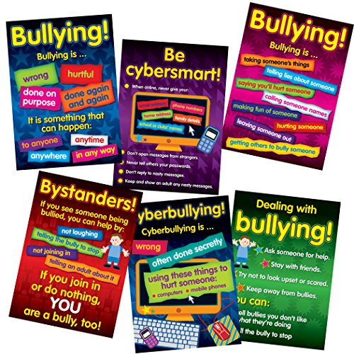 - Didax DD-556601 Bullying in a Cyber World 6-Poster Set, Grades 2-5 (Pack of 6)