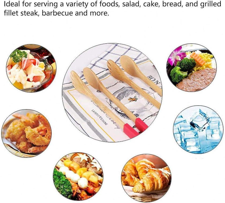 Sugoyi Pince de Cuisine, Pince à Barbecue en Bois Pince à Pain Pique-Nique Outil de Portion de Pince de Cuisine(Vert) Rouge