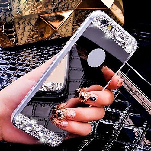15 opinioni per Malloom® Donna Specchio Diamante Lusso Bling Indietro TPU Custodie Cover per