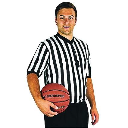 a94f676f1 Amazon.com  New Champro Basketball Referee Official Dri-Gear Black ...