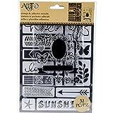 Art C Stamp & Adhesive Stencils Set - Words & Icons