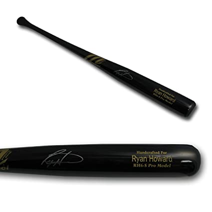 Autographed Ryan Howard Baseball Bat - Game Model Black Mariucci - Autographed MLB Bats