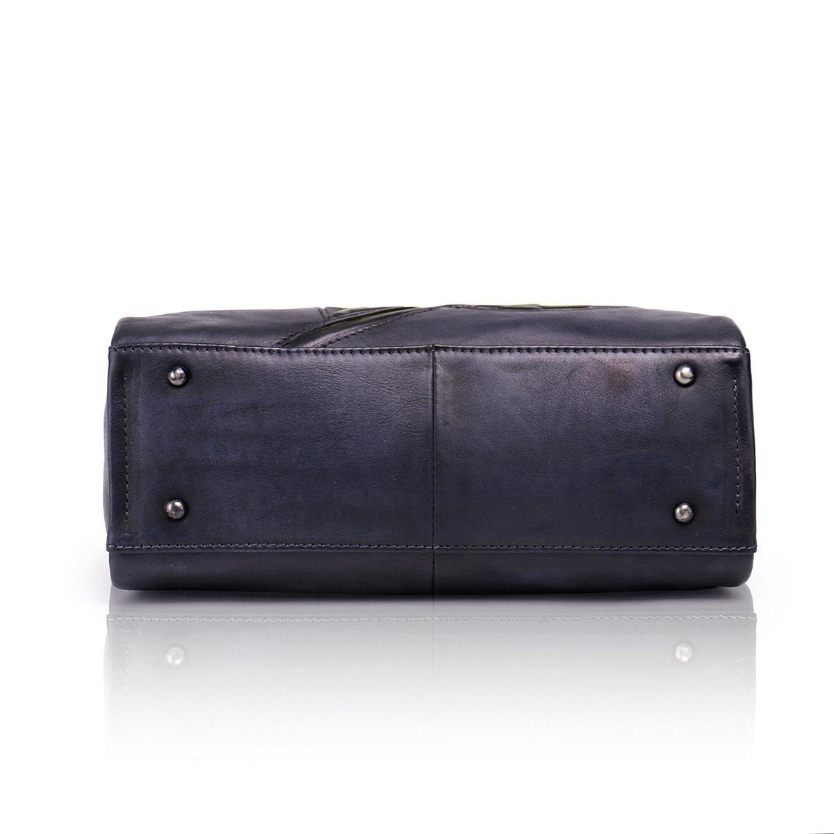 Aphison Designer Soft Leather Totes Handbags for Women, Ladies Satchels Shoulder Bags (BLACK) by APHISON (Image #4)