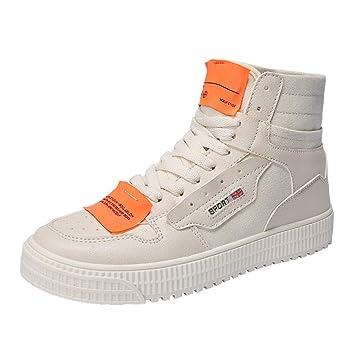 LuckyGirls Zapatillas Lona de Caña Alta para Hombre Casual Originales Patchwork Calzado de Planos Transpirables Zapatos Informales Bambas: Amazon.es: ...