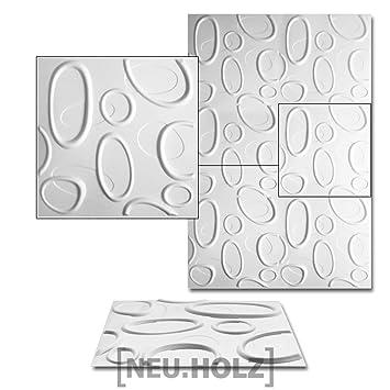 neu.haus] Wandpaneele (6 m²)-(50x50xm) mit 3D-Effekt Design ...