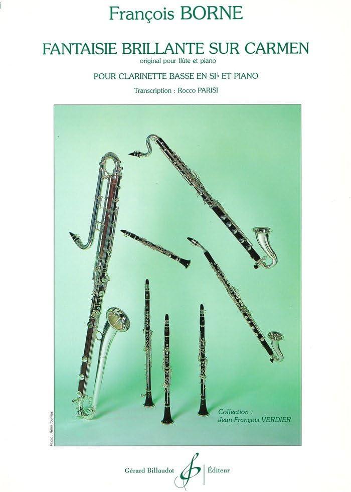 ボルヌ : カルメン幻想曲 (バスクラリネット、ピアノ) ビヨドー出版