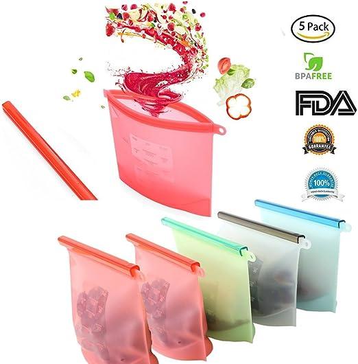 Bolsa de silicona reutilizable para almacenamiento de alimentos ...