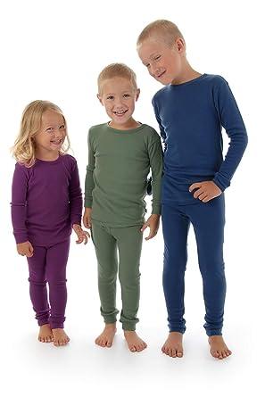 285e6bb8e95d Amazon.com  Merino Wool Kids Pajama Set. Thermal Underwear Base ...
