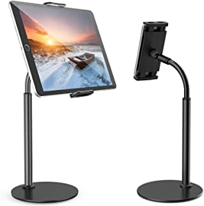 Tablet Stand Holder – Tryone iPad Holder Stand with 360 Degree Rotating, Desktop Tablet Stand for iPad /iPhone/Nintendo Switch/Samsung Galaxy Tabs/Kindle and More(4-10.6'') (Black)