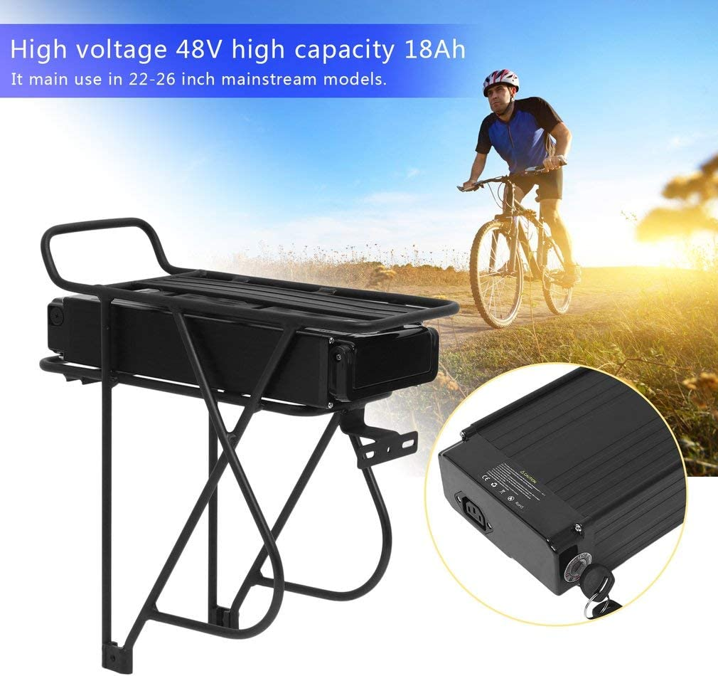 SF Mit Ladeger/ät Lithium-Ionen Akku E-Bike 48V 18AH 1KW f/ür Trio Phylion MiFa Rex Prophete Samsung hinterem Rahmen und V Bremse E-Bike Pedelec Akku